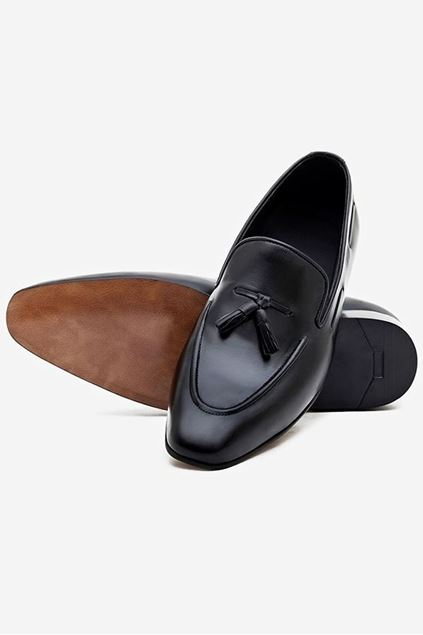Footprint - 	Black Formal Leather Loafers