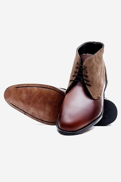 Footprint - Brown Casual Leather Boots