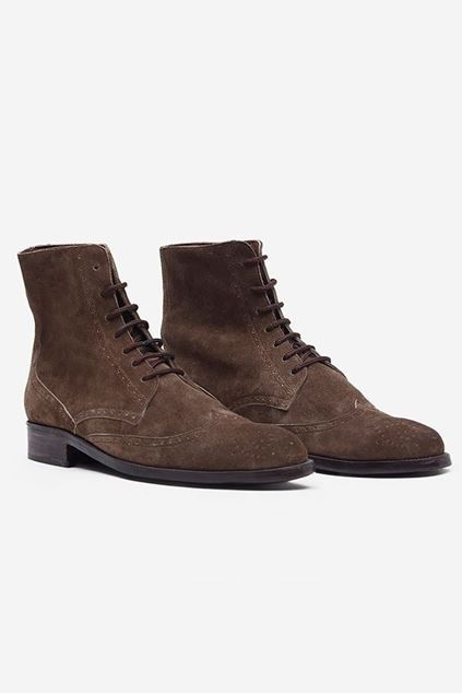 Footprint - Brown Fashion Suede Brogue Boots
