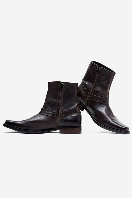 Footprint - Black Casual Leather Boots