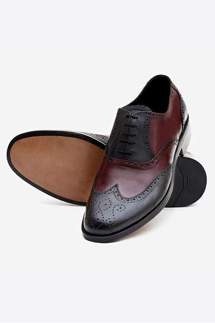 Footprint - Brown Black Formal Leather Brogue