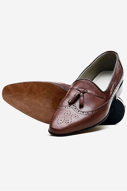 Footprint - Brown Casual Leather Pumps