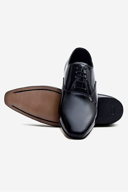 Footprint - Black Formal Leather Lace Up
