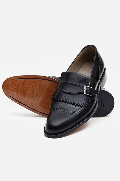 Pie Town Brogue Buckled Loafer - Footprint