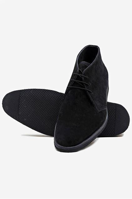 Chukka Boots Ankle High - Black - Footprint