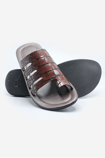 Footprint - Brown Casual Velvet Slippers